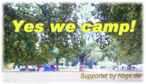 Yes we camp Logo